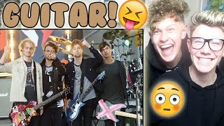 5 Seconds of Summer Guitar solos (live) Reaction