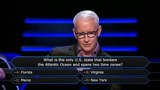 Anderson Cooper and Andy Cohen Disagree - Who Wants To Be A Millionaire