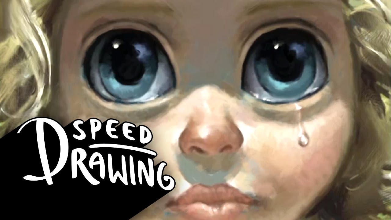 speed drawing big eyes youtube