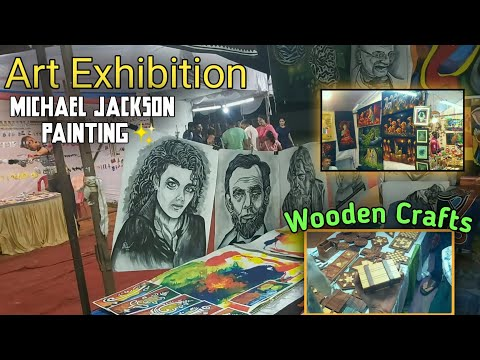 Art Exhibition Amritsar | From all over India | Paintings,Bags etc| street Food😍|