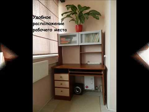 Шкаф-купе с компьютерным столом - YouTube