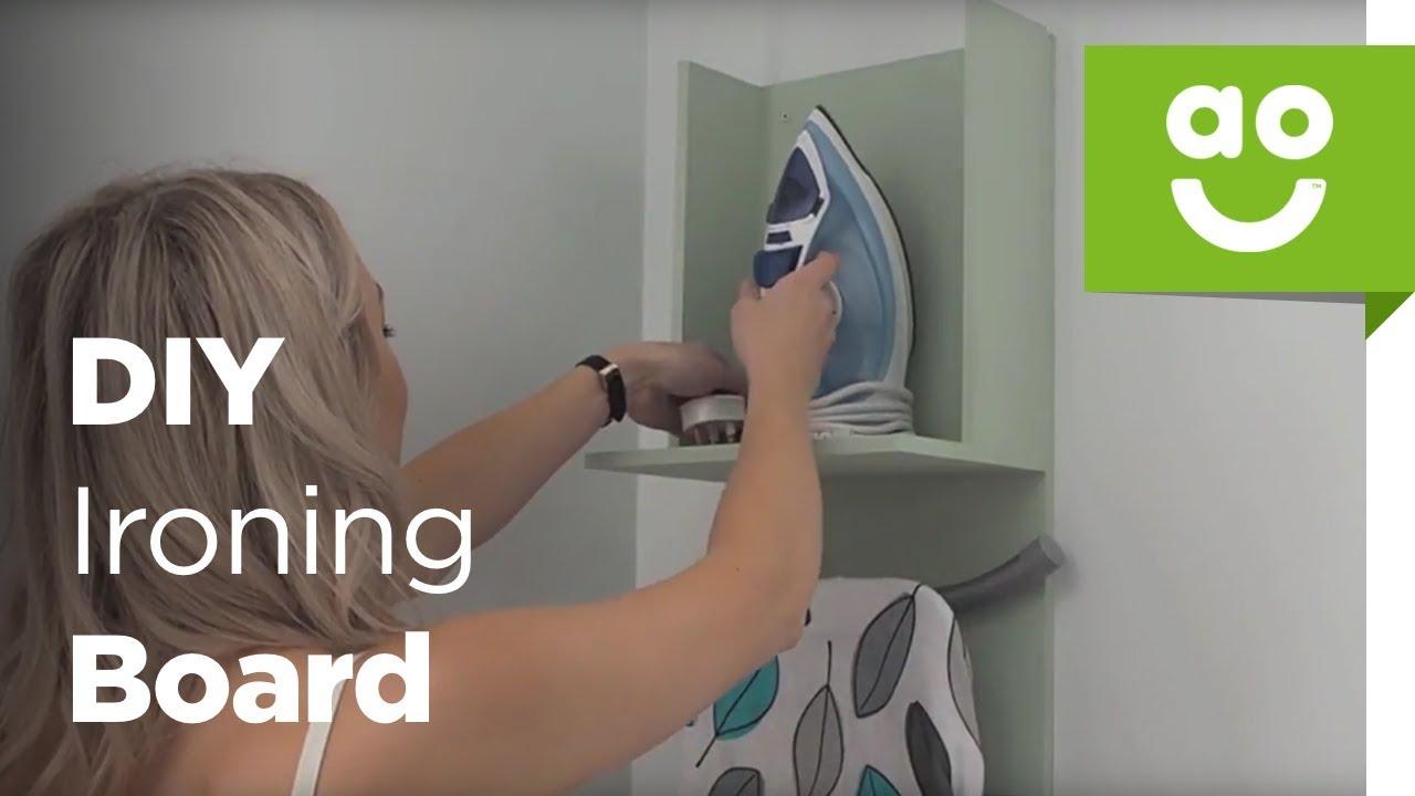 Diy Ironing Board Storage Aocom Youtube