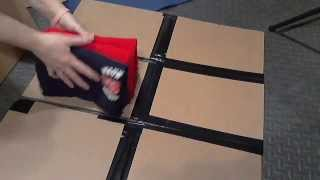 How to make a T Shirt Folder with just cardboard and gorilla tape.
