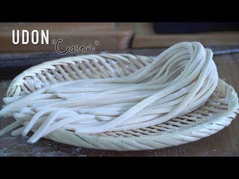 Fideos tipo Udon Casero - Homemade Udon Noodles Recipe