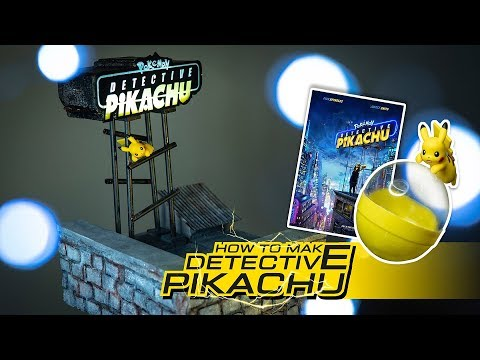 Pokemon DIY - Detective Pikachu roof top step by step.[DIORAMA]-[Chapter2]