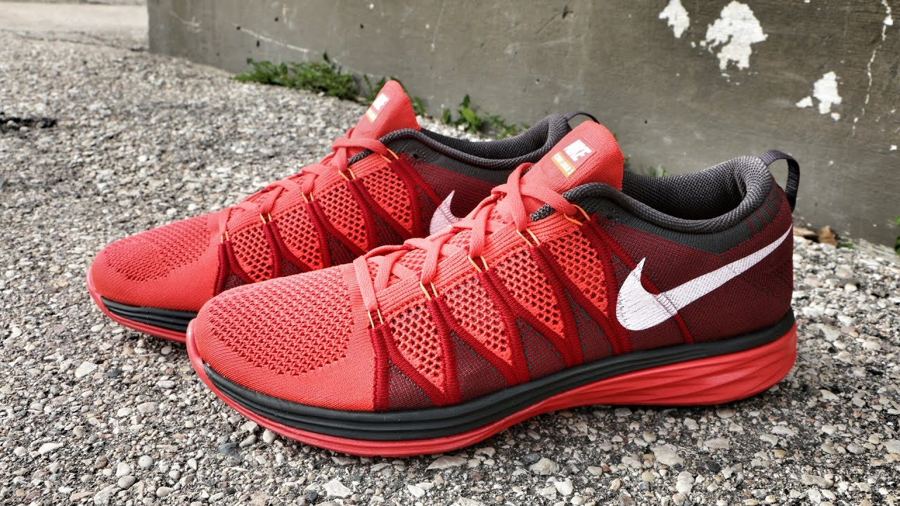 premium selection 2f300 f173e Nike Flyknit Lunar 2 Crimson - Review + On Foot