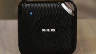philips bt2500 budget bluetooth speaker in a slim package