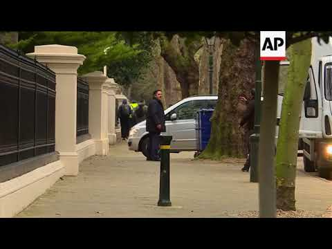 Removal vans outside UK's Russian embassy amid diplomat expulsion