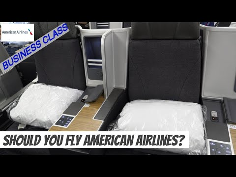 AMERICAN AIRLINES FLAGSHIP BUSINESS CLASS With Complete Flagship Lounge Miami Tour  ⭐MIA✈LIM⭐