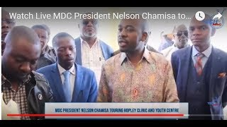 Watch Live  MDC President Nelson Chamisa touring Hopley Clinic and Youth Centre