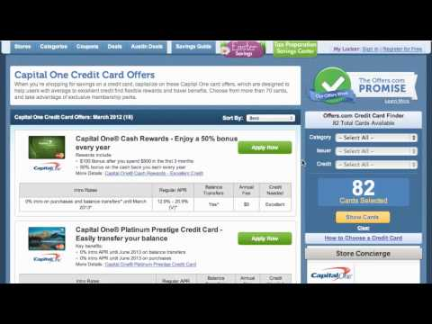 How To Use Capital One Credit Card Offers