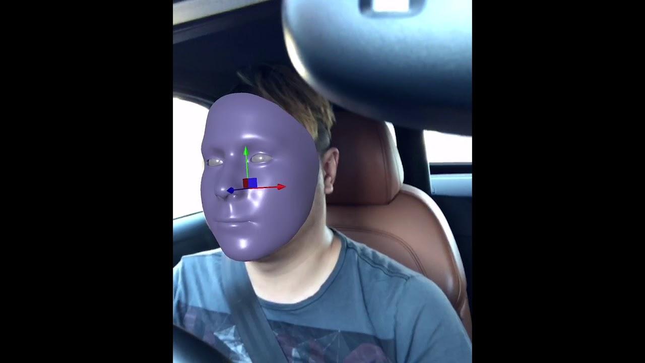 Pinscreen Face Tracker App (Automotive AI Demo)