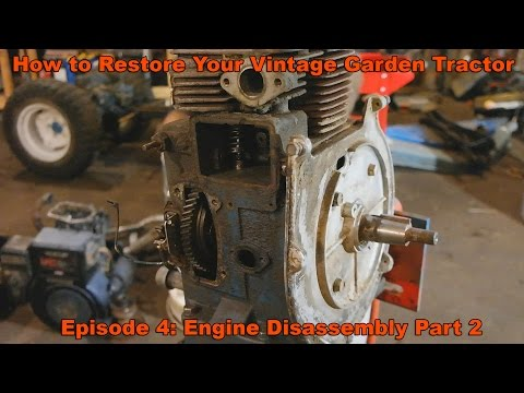 How to Restore Your Vintage Garden Tractor Ep. 4: Kohler K Engine Disassembly part 2