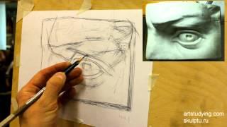 Глаз Давида. Обучение рисунку. Портрет. 23 серия