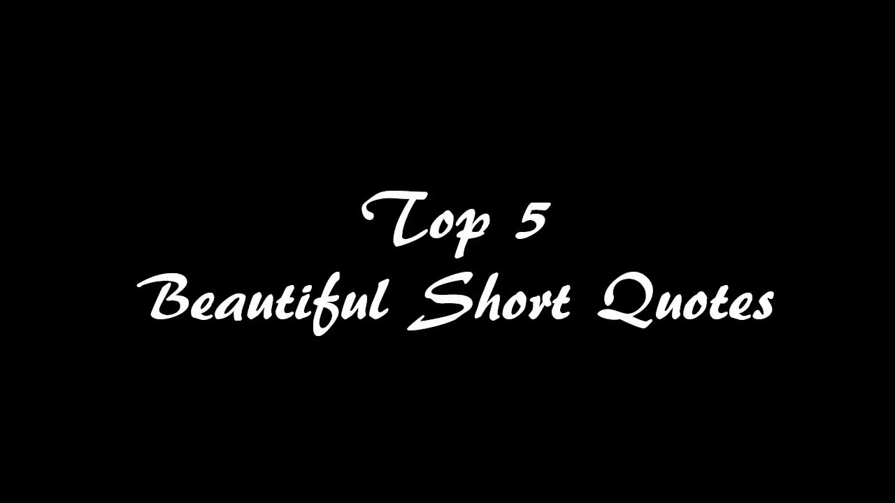 Image of: Sayings top5 Beautiful Short Quotes Walkwith Dani Youtube Top5 Beautiful Short Quotes Walkwith Dani Youtube