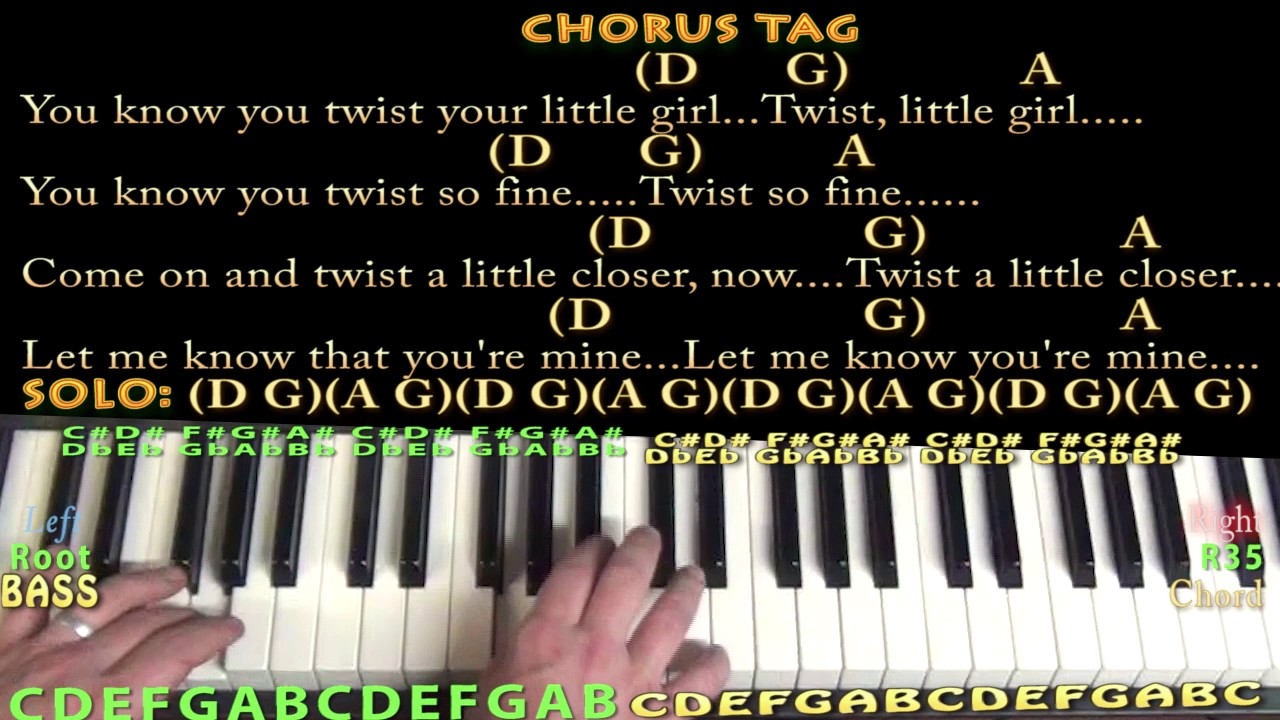 Twist and shout the beatles piano chord chart with chordslyrics twist and shout the beatles piano chord chart with chordslyrics d g a arpeggios hexwebz Gallery