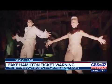 Fake Hamilton Ticket Warning