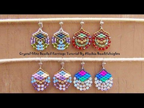 Crystal Glitz Beaded Earrings Tutorial