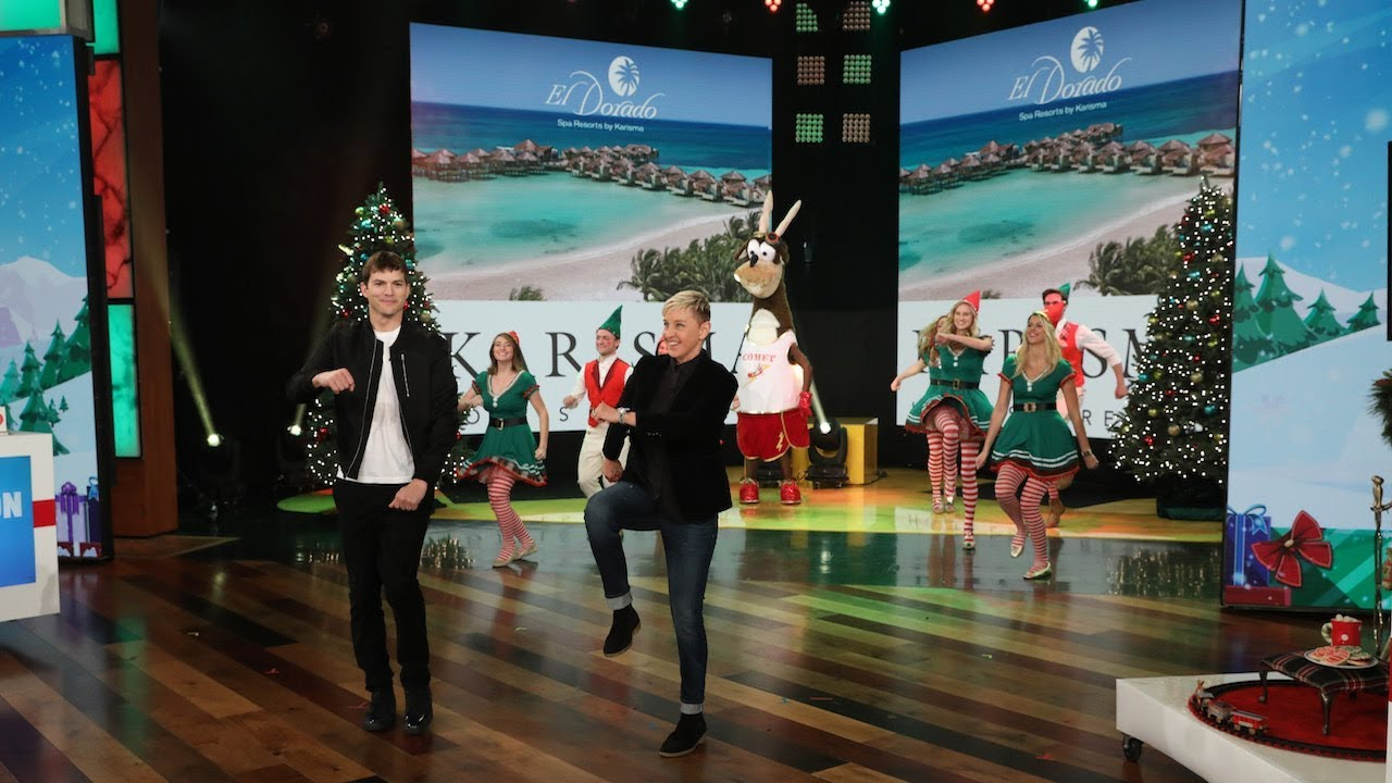 Ashton Kutcher & Ellen Wrap Up 12 Days of Giveaways with a Luxurious Vacation