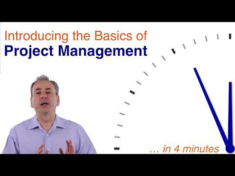 Basics of Project Management  ...in 4 minutes