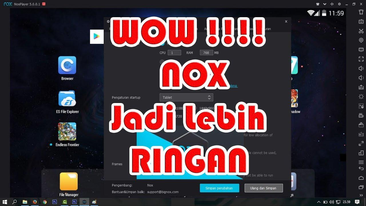 Cara Mudah Agar Nox App Player Menjadi Lebih Ringan Dan No Lag Youtube