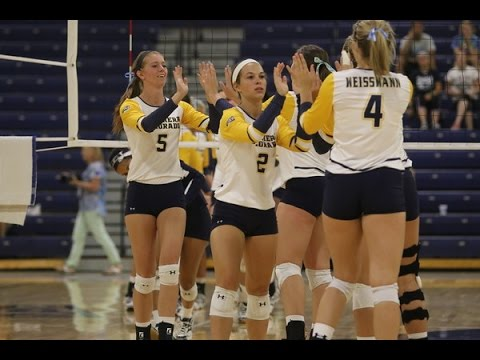 Bears Win Home Opener - Northern Colorado Volleyball - YouTube