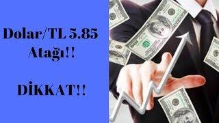 Dolar/TL 5.85 Atağı.. Peki Bundan Sonra? Teknik Analiz