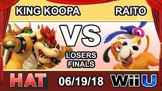 HAT 26 - TCM | King Koopa (Bowser) Vs. CND | Raito (Duck Hunt) Losers Finals - Smash 4