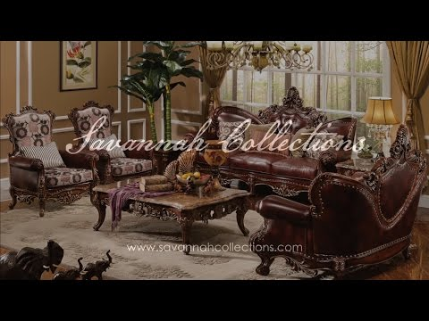 Victorian Furniture Living Room Collection by Savannah Collections -Aico