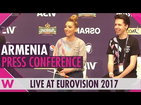 "Armenia Press Conference — Artsvik ""Fly With Me"" Eurovision 2017 