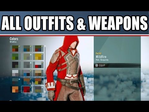 Assassin's Creed Unity ALL OUTFITS WEAPONS, Customization & Map Size Free Roam Gameplay