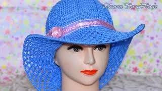 Шляпа крючком, вязание для начинающих.1/2.Мастер класс и схема. Hat crochet