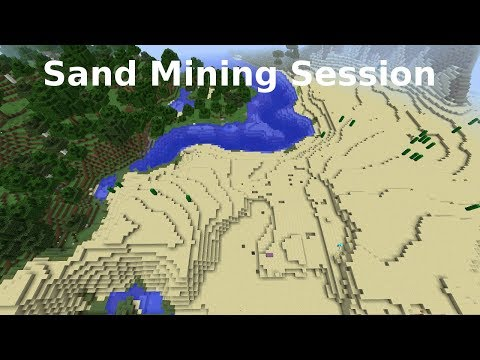 Minecraft Timelapse: Sand Mining Session