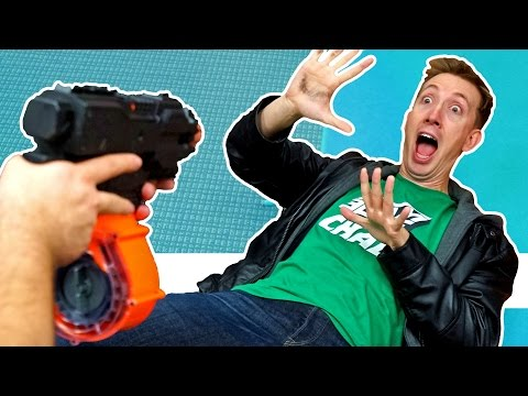 NERF Andy's Coming Challenge!