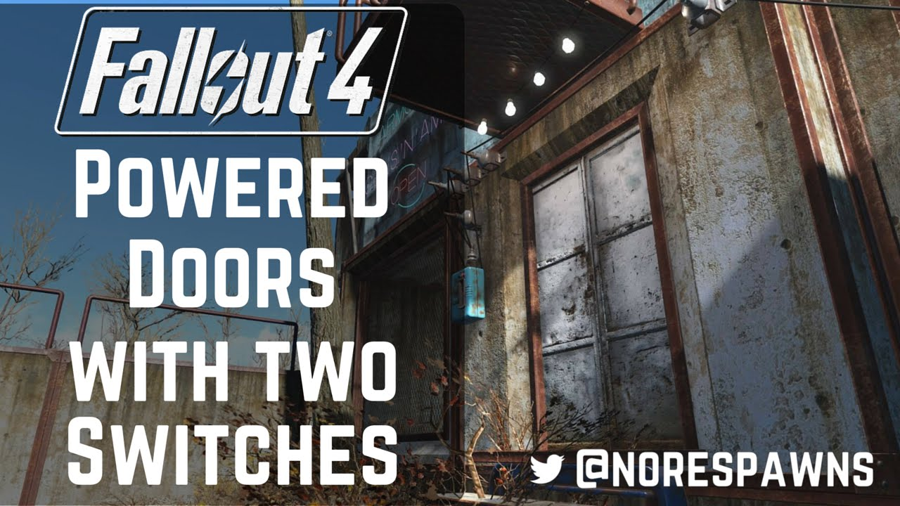 Fallout 4 Guide Working Powered Doors With Two Switches