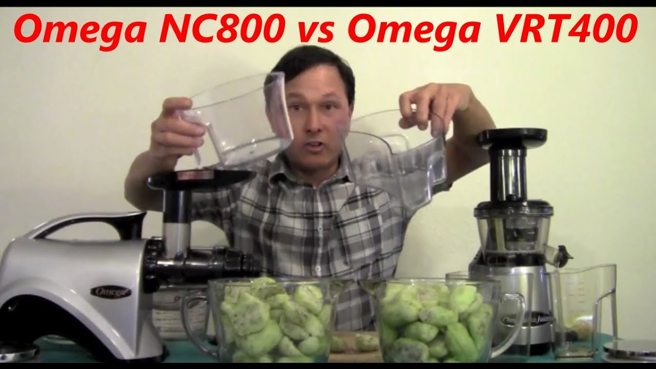 Omega Nc800 Slow Juicer : Omega NC800 vs Omega vRT400 Slow Juicer Comparison Review - YouTube