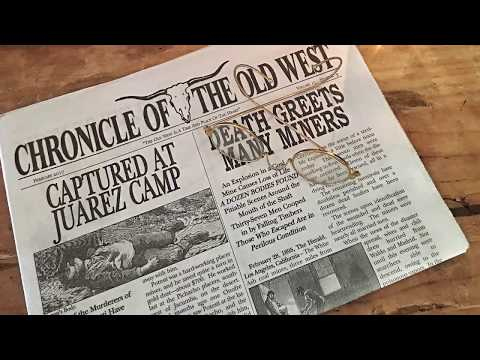 """""""Pilgrim?"""" Chronicle of the Old West newspaper (Dog Jake Western Store)"""