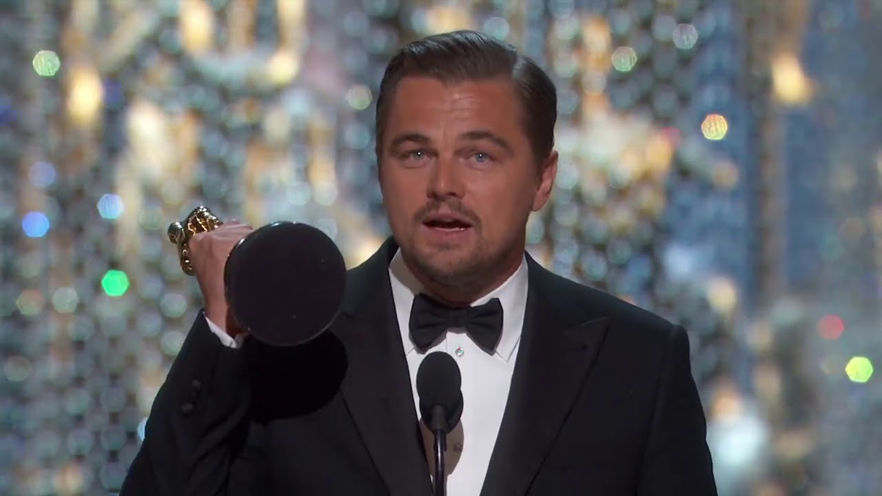 oscars 2016 leonardo dicaprio wins best actor - speech 2016 vostfr