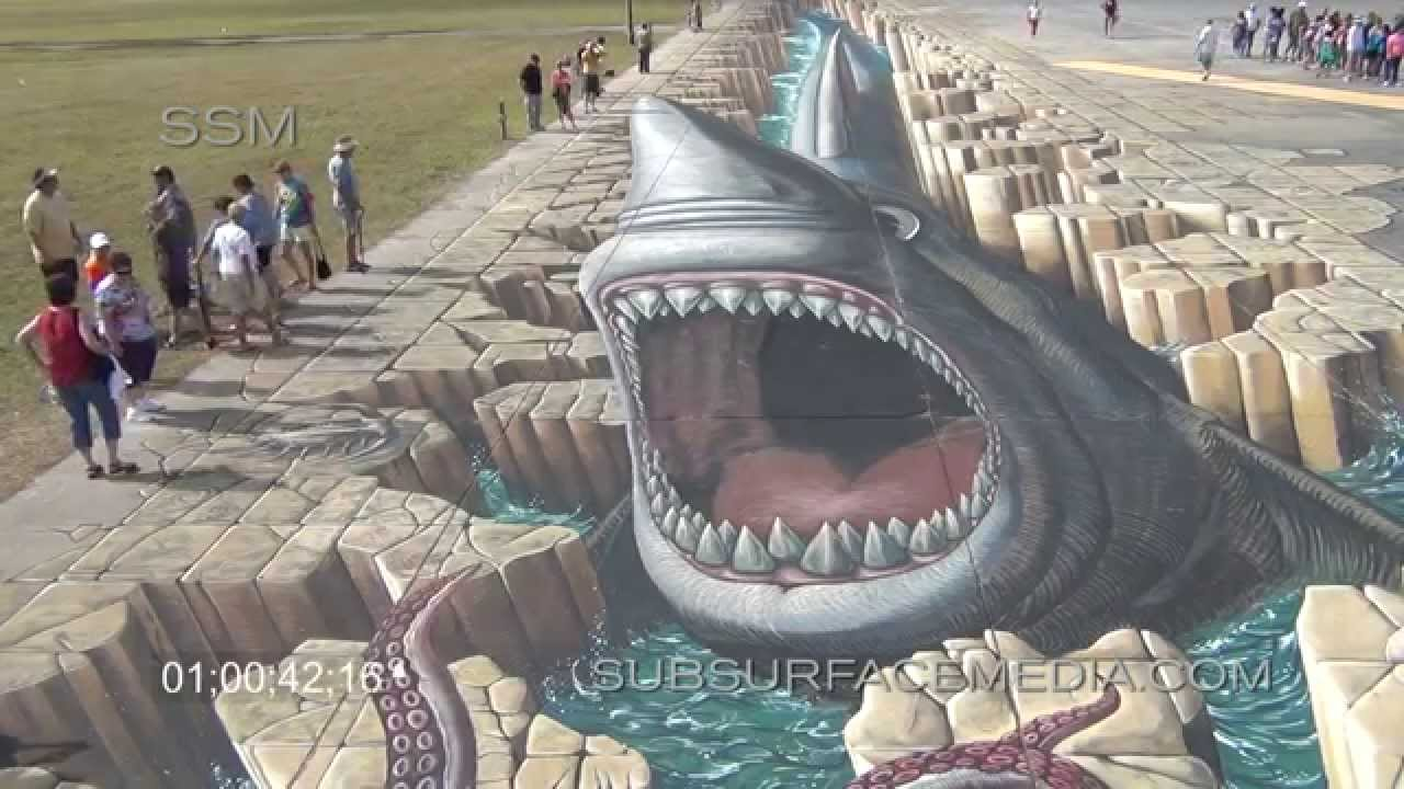 2014 sarasota chalk festival world record 3d artwork b roll youtube