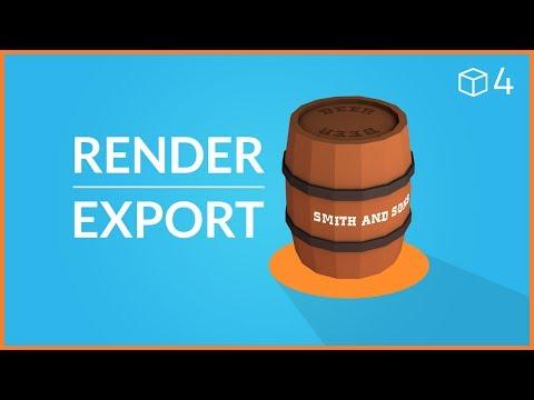 Blender Beginner Tutorial #4 - RENDERING & EXPORTING