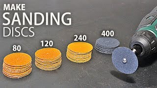 3 Simple Ways to Make Sanding Discs for your Dremel / Rotary Tool