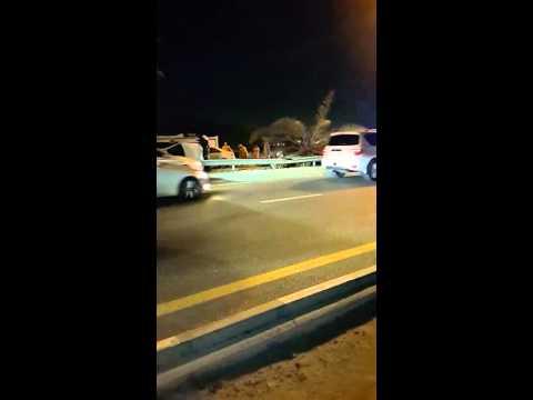 Road accident in mushrif dubai