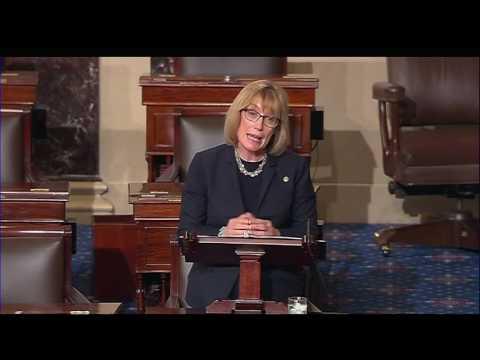 Raw video: Maggie Hassan delivers maiden speech on Senate floor