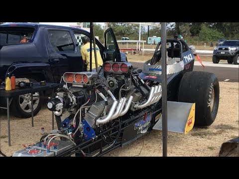 Matsuda Racing's Blown Alcohol Twin Engine Dragster 7 29@183 MPH