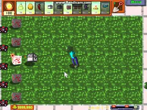 Plants Vs Zombies Mini Craft Mod Youtube