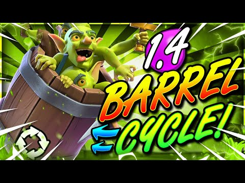 FASTEST GOBLIN BARREL DECK EVER!! 1.4 CYCLE!! THIS IS INSANE!