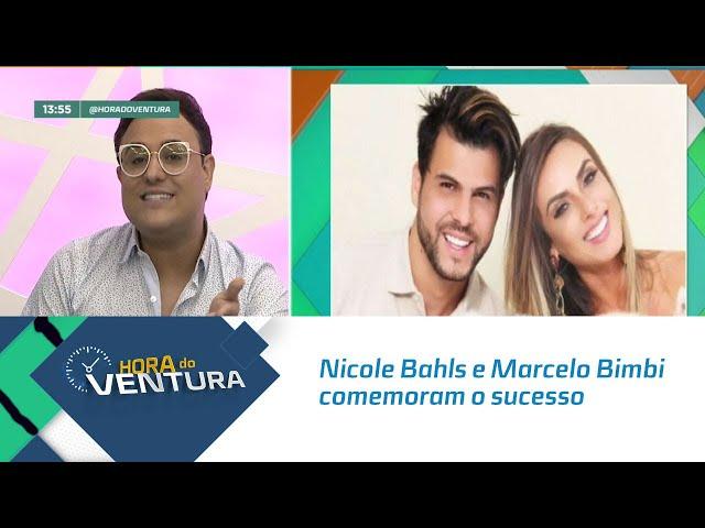Nicole Bahls e Marcelo Bimbi comemoram o sucesso da popularidade - Bloco 01