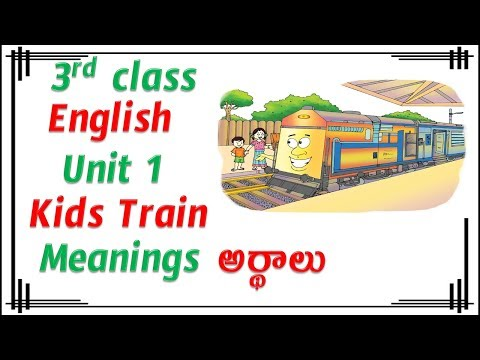 3rd Class, English, Kids Train, Telugu Meanings of the English Words