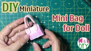 DIY Miniature Bag for Doll | Dollhouse