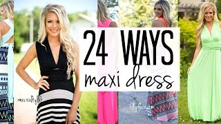 How To Wear A Convertible Maxi Dress: 24 Amazing Ways!